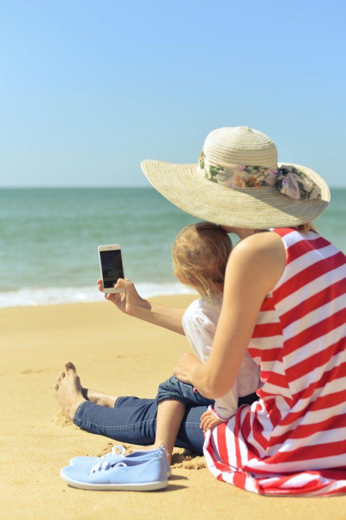 Ex-pat mum on the beach
